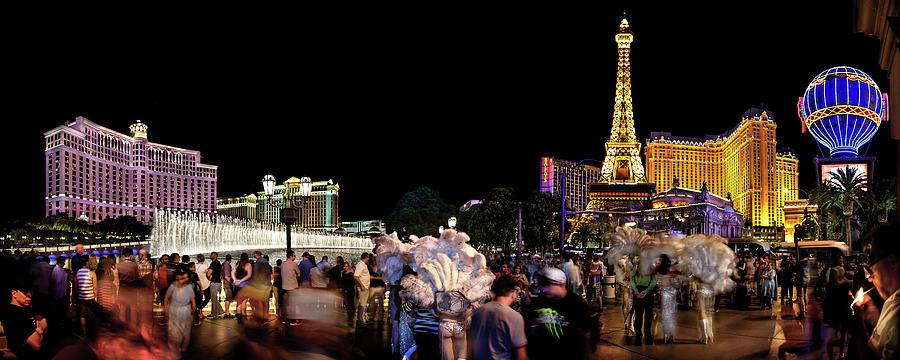 Las Vegas Skyline Photograph - Night On The Town by Az Jackson