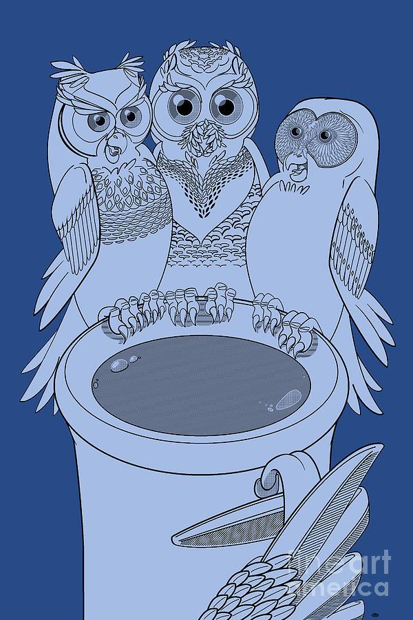 Night Owls Midnight Painting