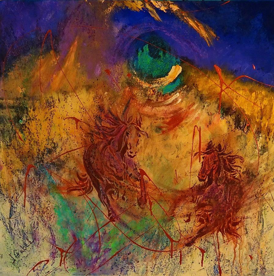 Night Painting - Night Riders by Laura Gabel