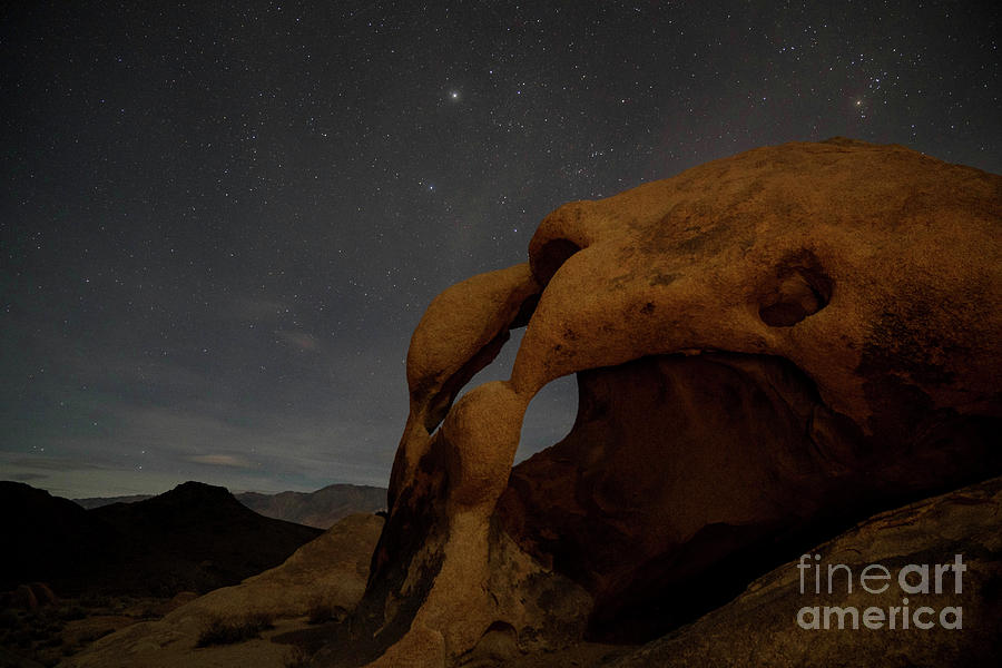 Night sky at Cyclops Arch by Keith Kapple