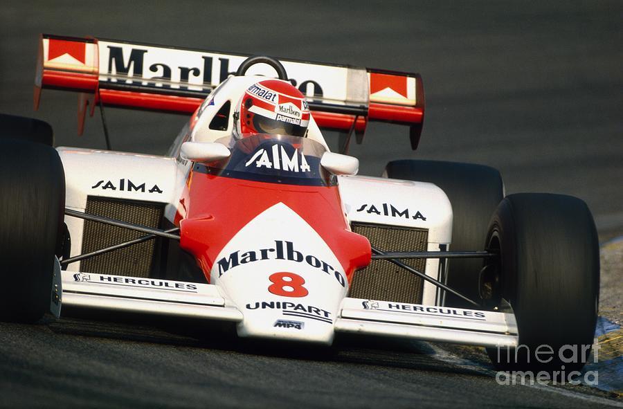 Niki Lauda Photograph - Niki Lauda. 1984 Dutch Grand Prix by Oleg Konin