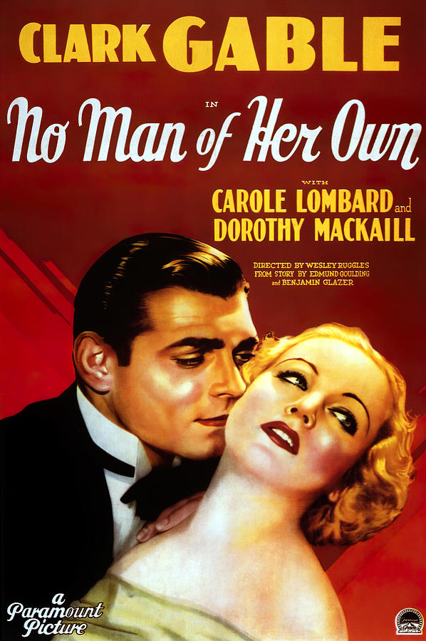 no Man Of Her Own, With Clark Gable And Carole Lombard, 1932 Mixed Media