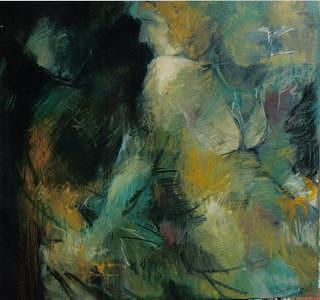 Abstract Figure Painting - No Really...How Many People Were In The Bed Last Night by John L Campbell