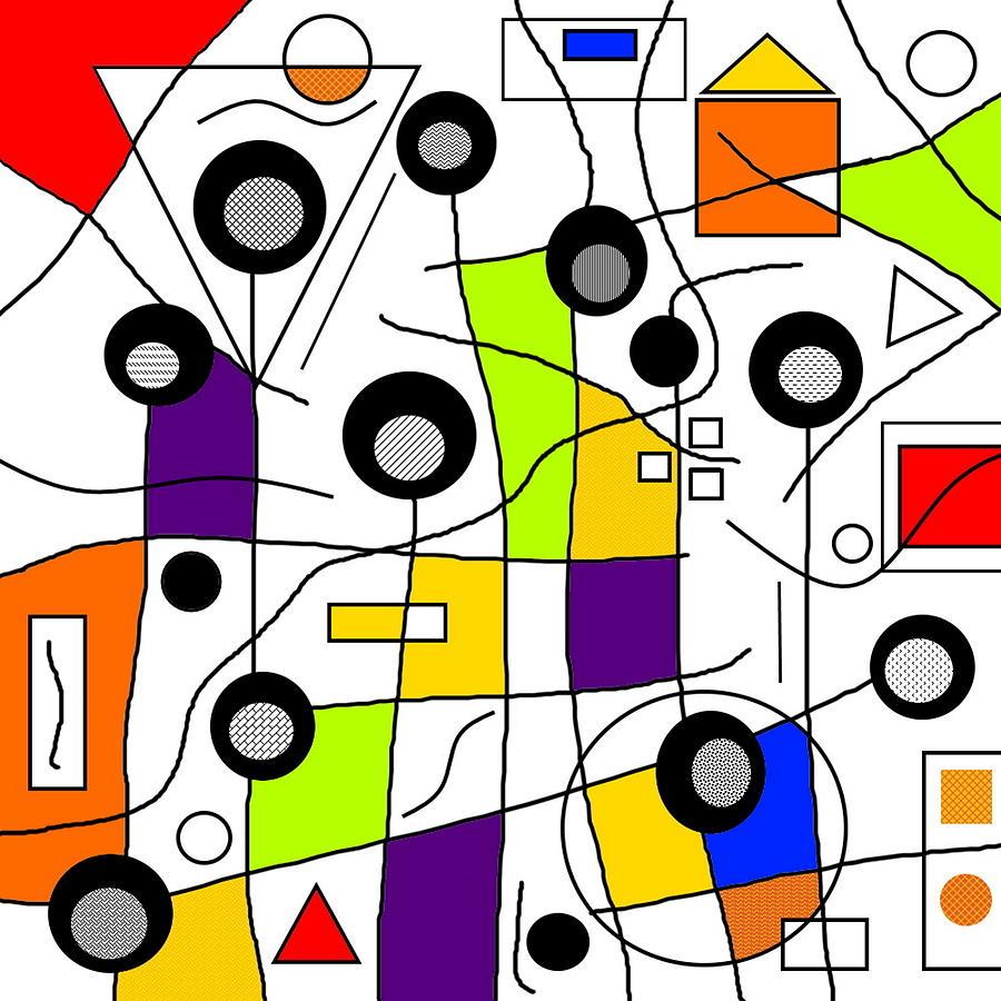 Red Digital Art - No Rhythm by Lady Ls Designs