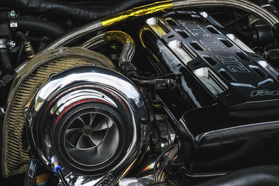 Engine Photograph - No Sht by Kamie Stephen