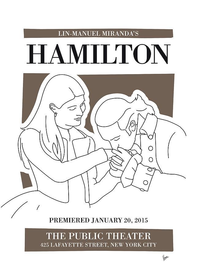 Hamilton Digital Art - No003 MY Hamilton musical poster by Chungkong Art