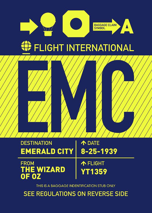 Wizard Digital Art - No004 MY Emerald City Luggage Tag Poster by Chungkong Art