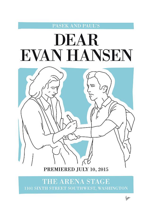 Dear Digital Art - No009 MY Dear Evan Hansen musical poster by Chungkong Art