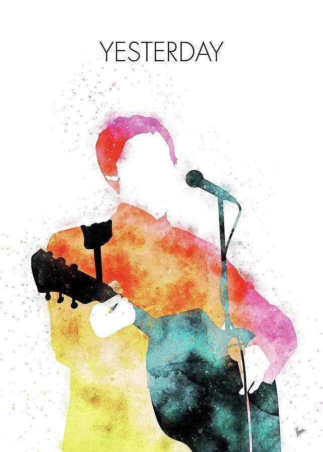 Paul Digital Art - No076 MY PAUL MCCARTNEY Watercolor Music poster by Chungkong Art