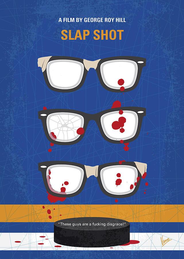 No1130 My Slap Shot minimal movie poster by Chungkong Art