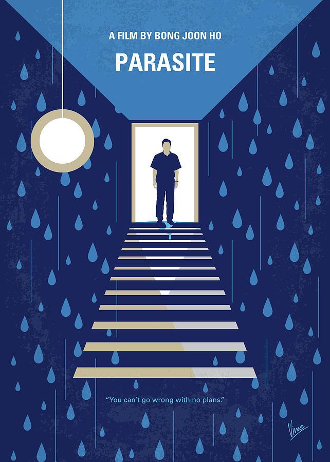 Parasite Digital Art - No1158 My Parasite minimal movie poster by Chungkong Art
