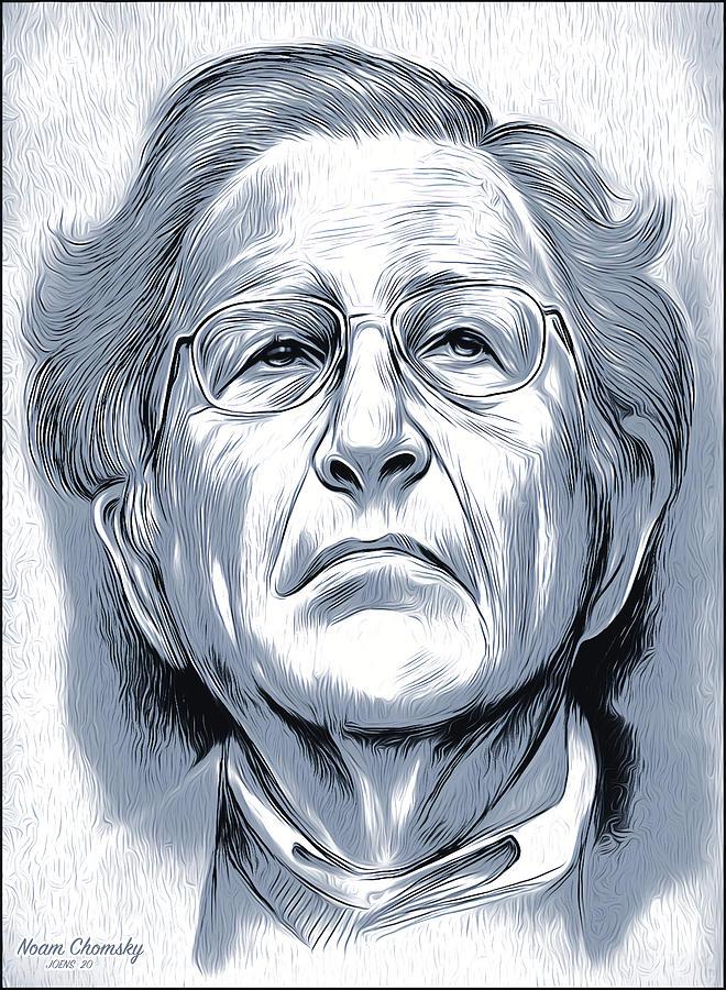 Noam Chomsky Digital Art - Noam by Greg Joens