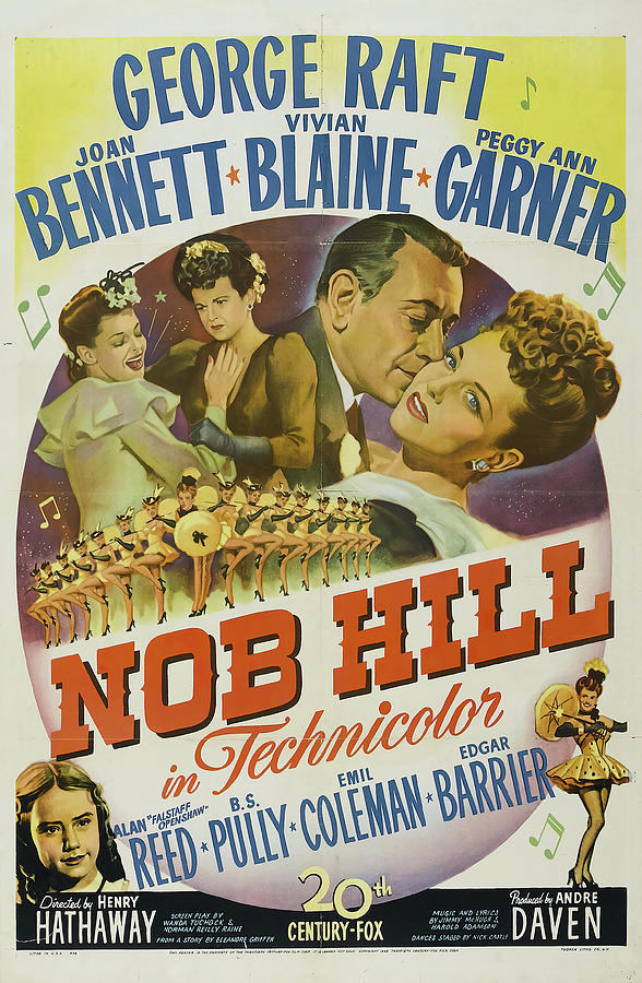 nob Hill, With George Raft And Joan Bennett, 1945 Mixed Media