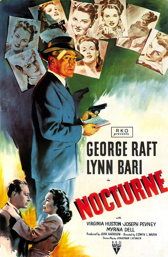 nocturne With George Raft And Lynn Bari, 1946 Mixed Media