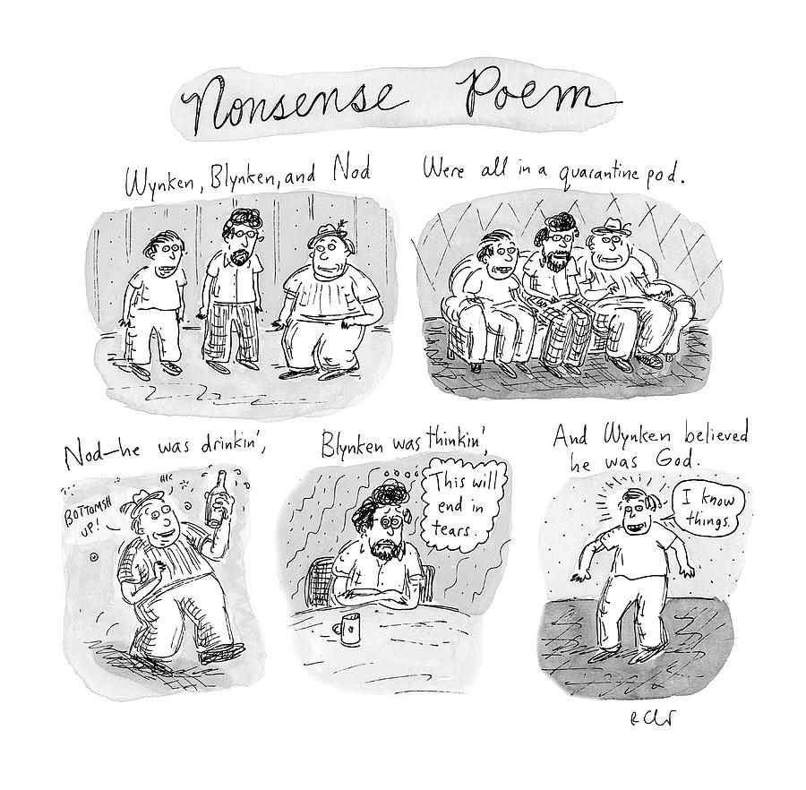 Nonsense Poem Drawing by Roz Chast