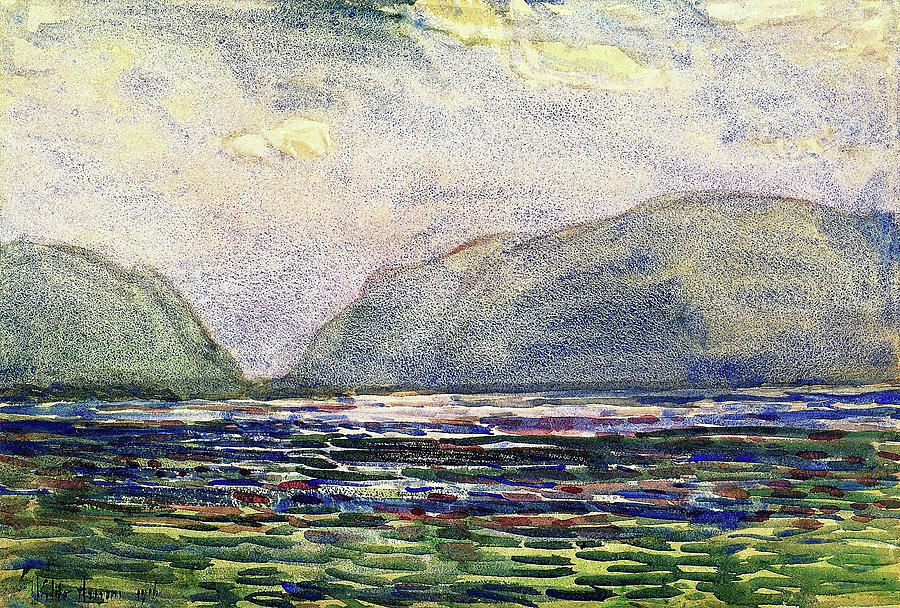 Frederick Childe Hassam Painting - Noon Above Newburgh - Digital Remastered Edition by Frederick Childe Hassam