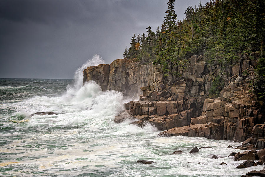 Nor'easter at Otter Cliff by Rick Berk
