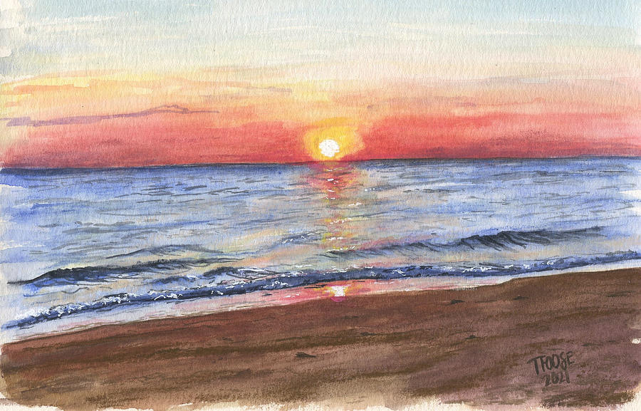 Norfolk Sunrise Painting