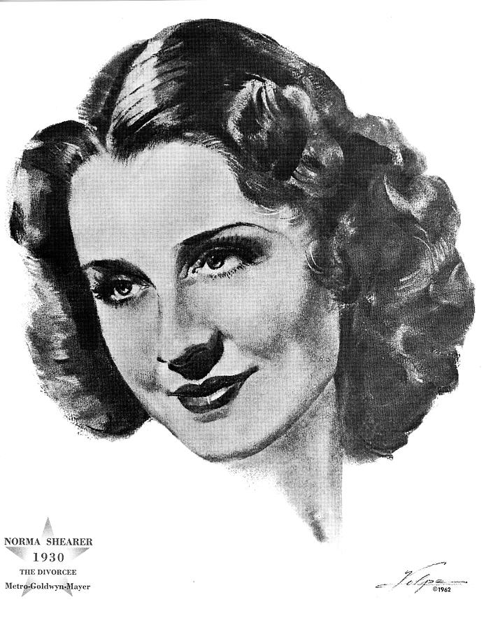 Norma Shearer By Volpe Drawing