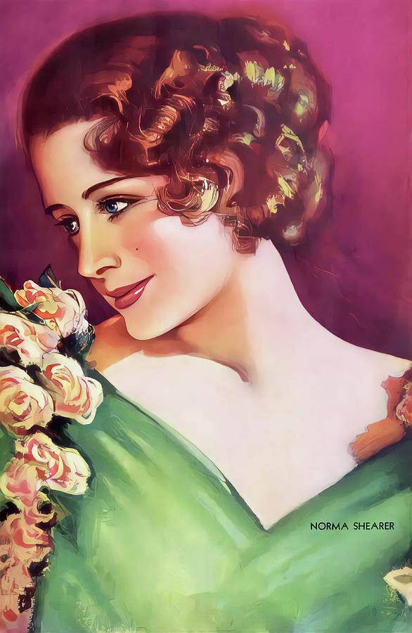Art Portrait Painting - Norma Shearer, Canadian-American actress by Vincent