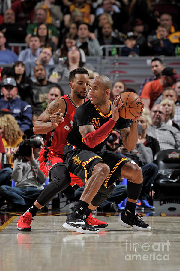 Norman Powell and Dahntay Jones Photograph by David Liam Kyle