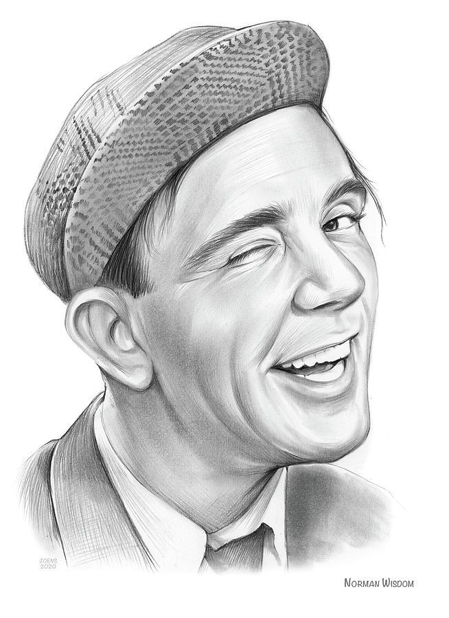 Norman Wisdom Drawing - Norman Wisdom - Pencil by Greg Joens