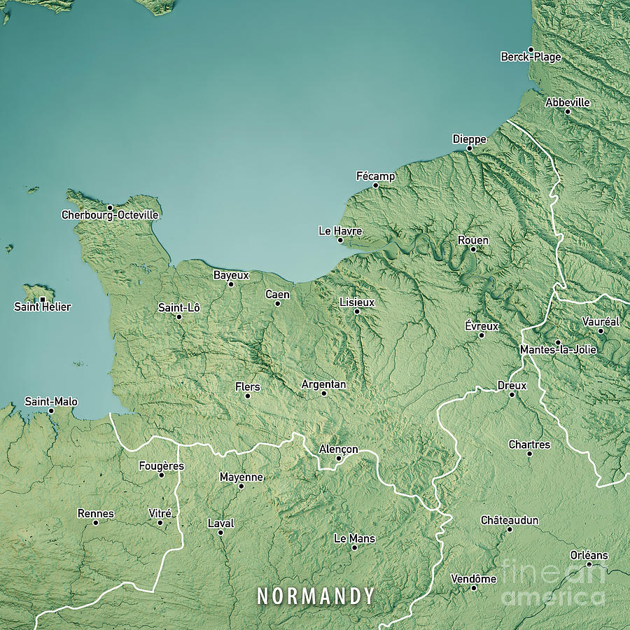 Of france map normandy Normandy Map,