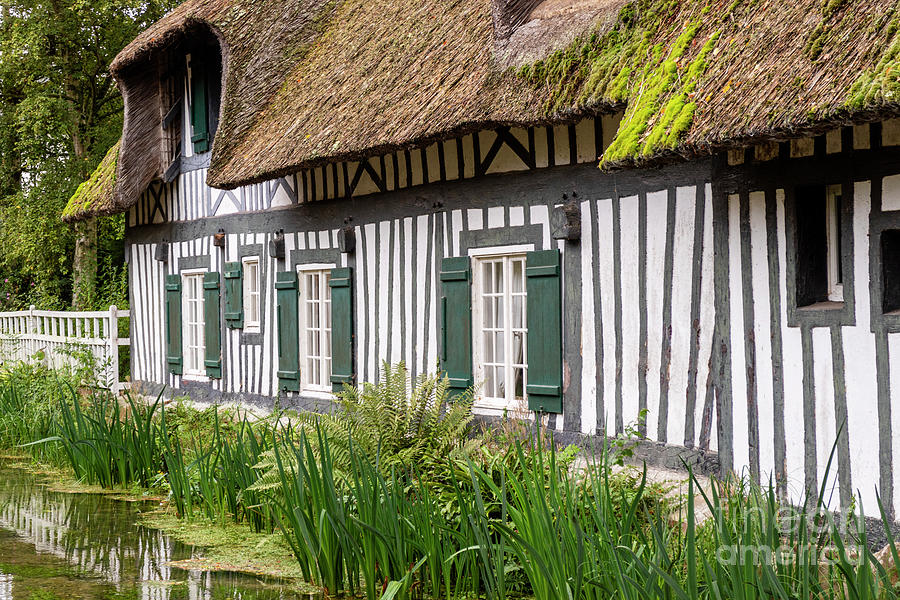 Normandy Half-timbered House Photograph