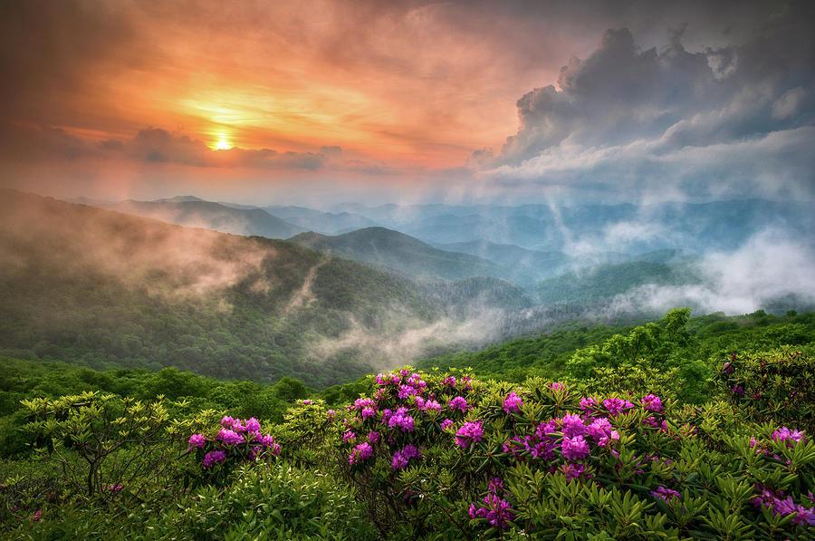 North Carolina Photograph - North Carolina Blue Ridge Parkway Spring Appalachian Mountains NC by Dave Allen