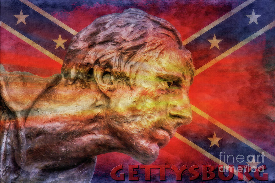 North Carolina Gettysburg Rebel Flag Digital Art