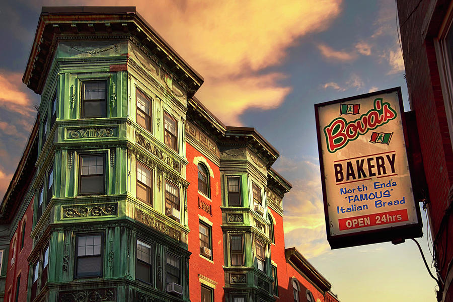 North End Architecture - Bovas Bakery Photograph