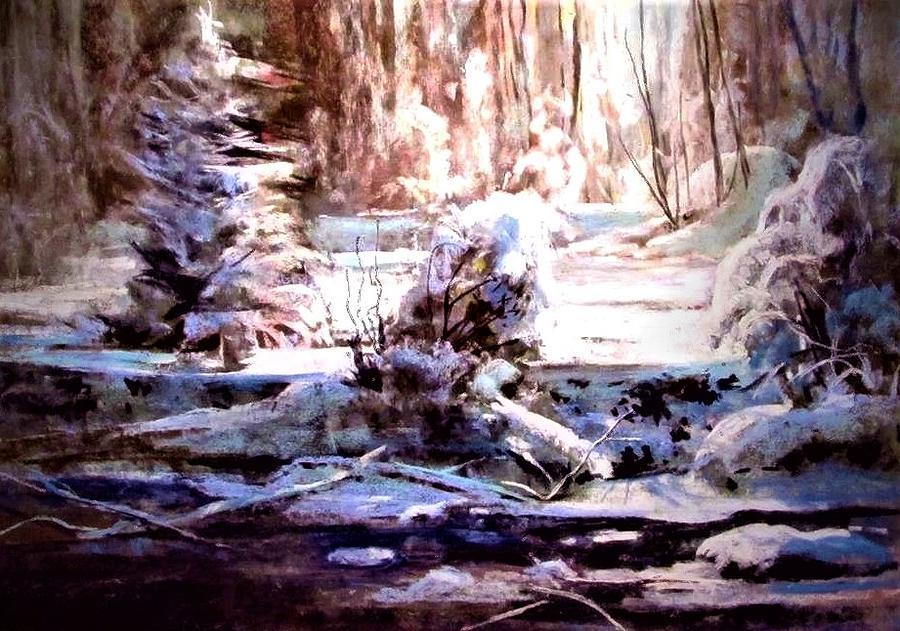 North Light Winter Painting by Joseph Barani