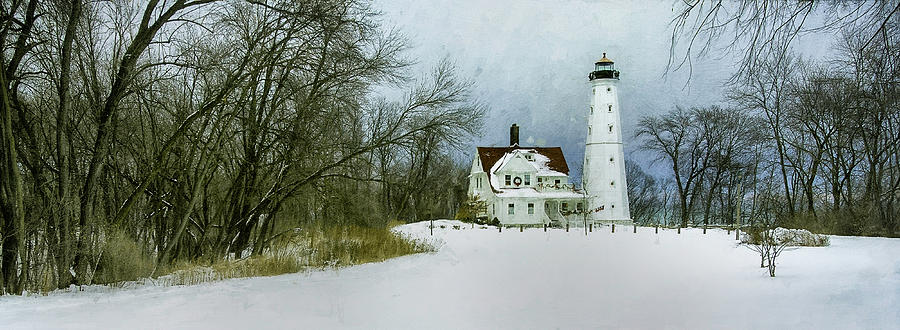 North Point Lighthouse Wide Photograph