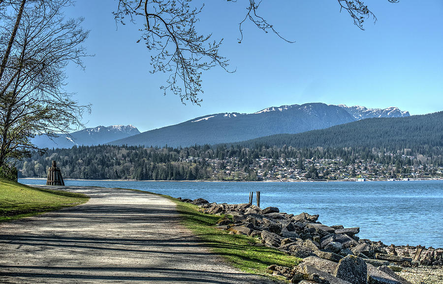 North Vancouver From Barnet Marine Park Photograph