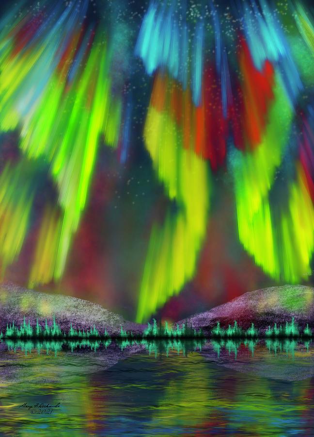 Northern Lights Painting Digital Art
