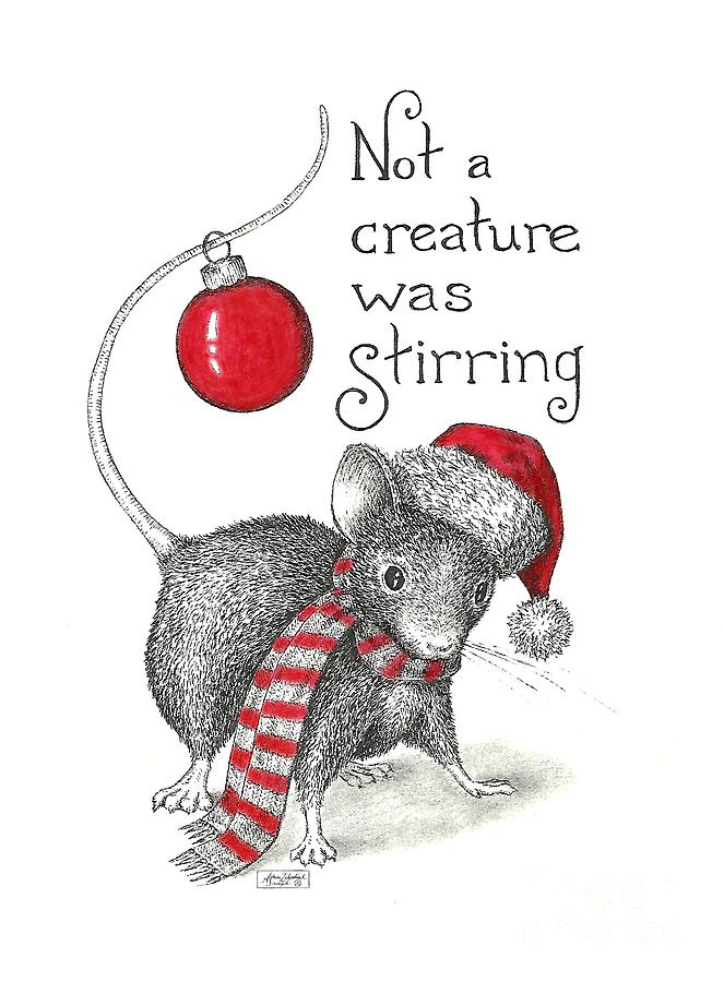 Not A Creature Was Stirring Drawing