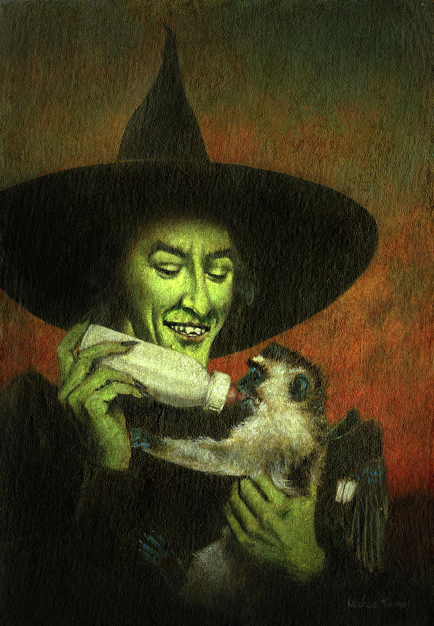 Not So Wicked Witch Painting