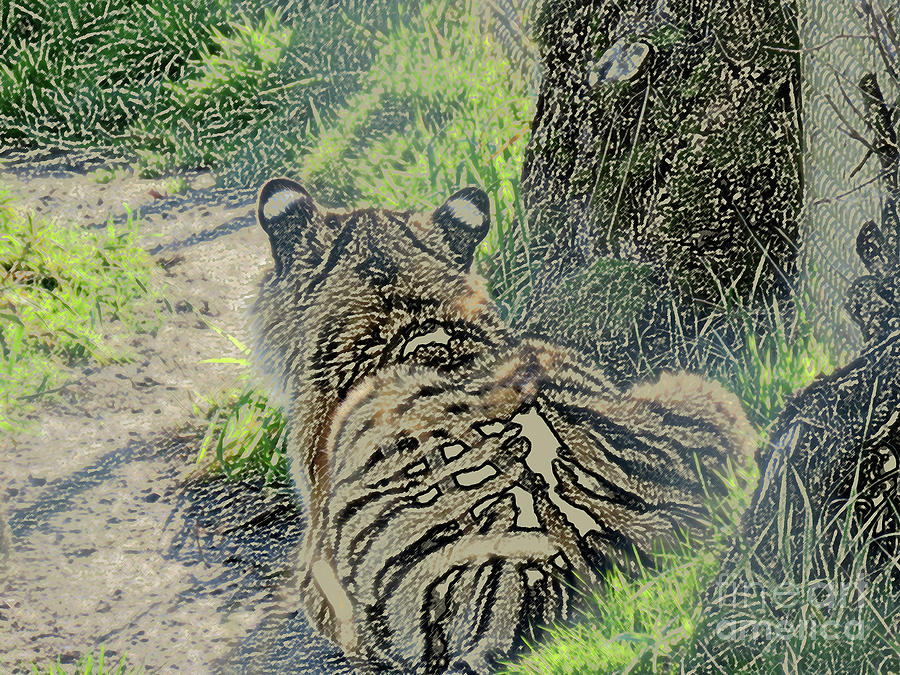 Nature Digital Art - Not Talking to You by Mary Mikawoz