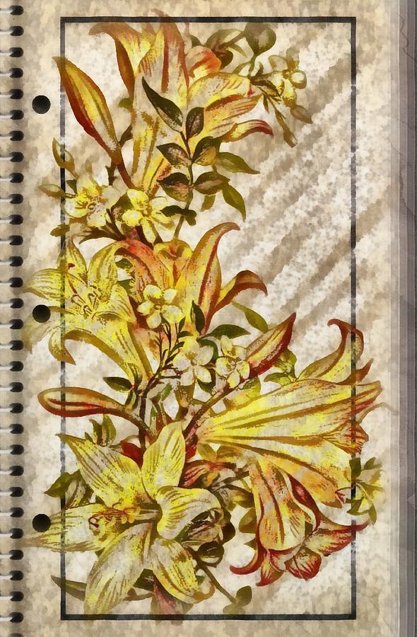 Notebook Bouquet Digital Art