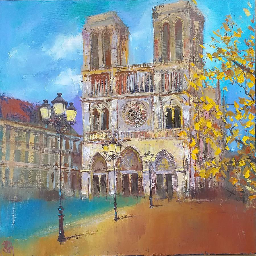 Notre Dame Cathedral Paris Painting
