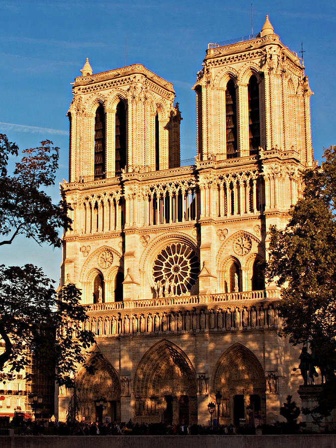 Paris Photograph - Notre Dame de Paris Facade by Barry O Carroll