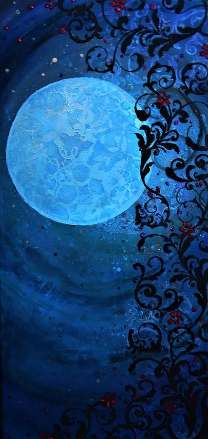 Moon Painting - Nouveau Moon by Jessie Tondreau