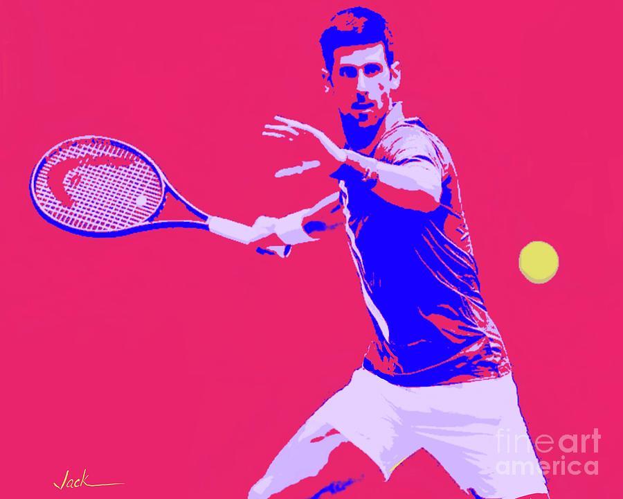 Novak Painting - Novak 2020  by Jack Bunds