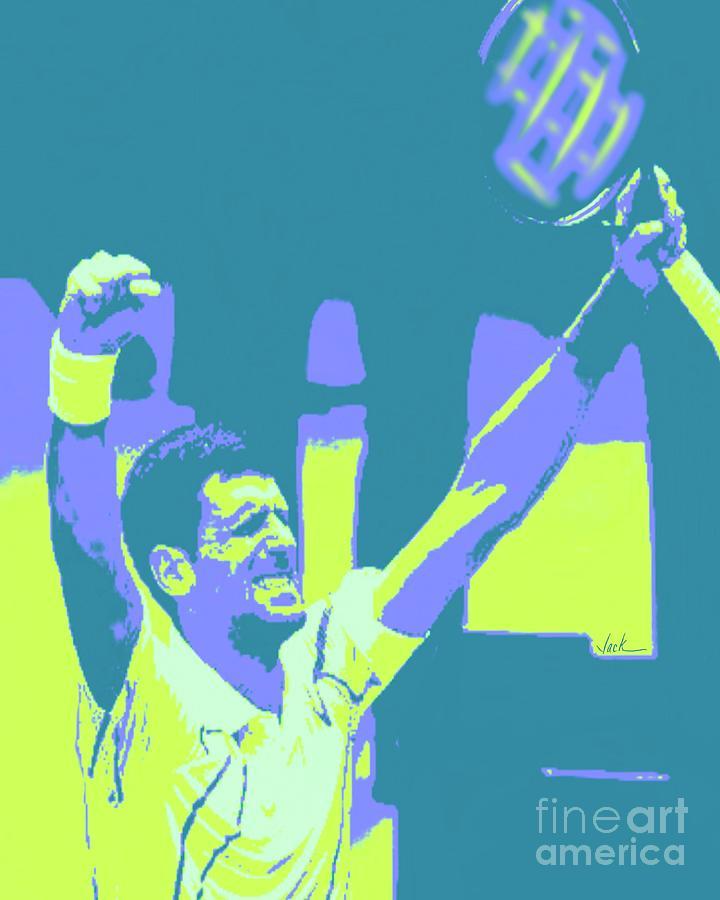 Novak Painting - Novak Djokovic Australian 2020 by Jack Bunds