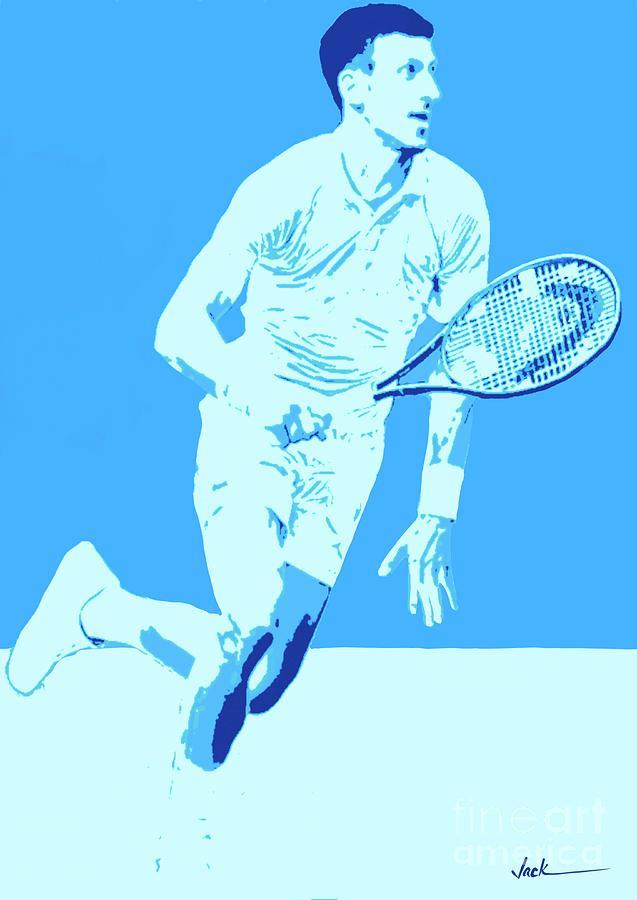 Us Open Painting - Novak US Open 2021 by Jack Bunds