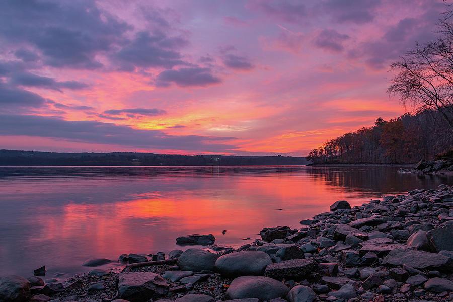 Hudson River Photograph - November Dawn On The Hudson by Jeff Severson