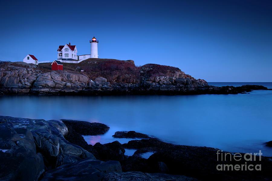 Nubble Photograph - Nubble Lighthouse Maine by Brian Jannsen