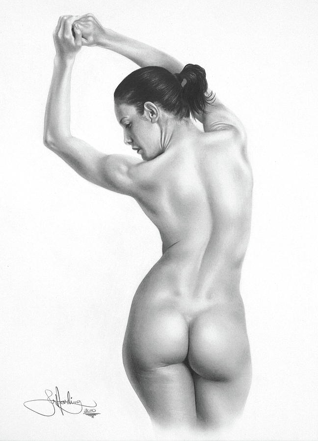 Charcoal pencil life drawings by matthew james taylor