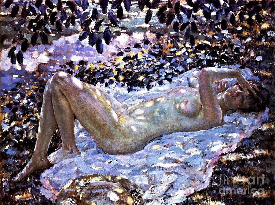 Nude  Dappled Sunlight Painting