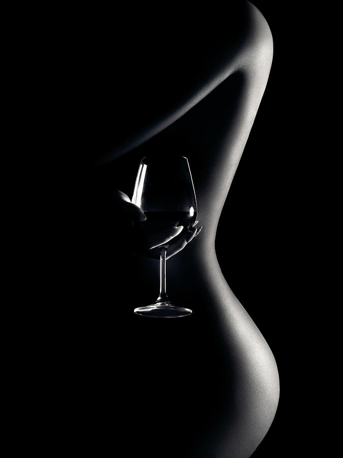 Nude Woman Red Wine 3 Photograph
